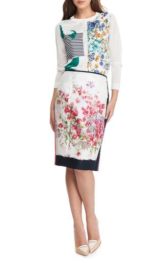 Floral Print Silk Cardigan by NINA RICCI Now Available on Moda Operandi
