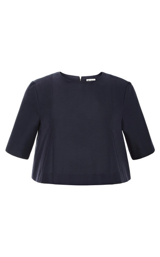 Medium suno navy cropped twill top