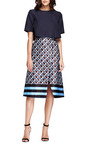 Printed Satin A Line Wrap Skirt by SUNO Now Available on Moda Operandi