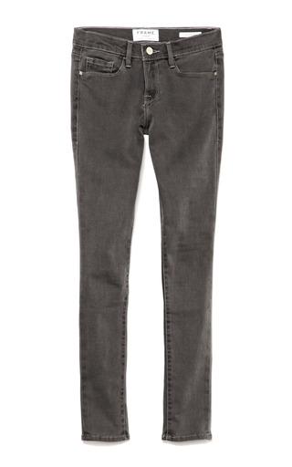 Medium frame denim dark grey le luxe noir skinny jeans in gray