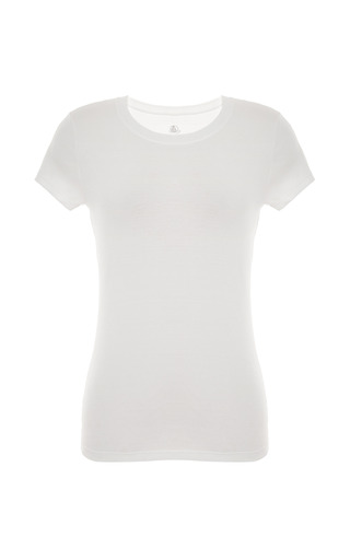 Medium petit bateau white essential crew neck cotton tee 2