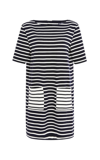 Medium petit bateau blue fila striped cotton jersey dress