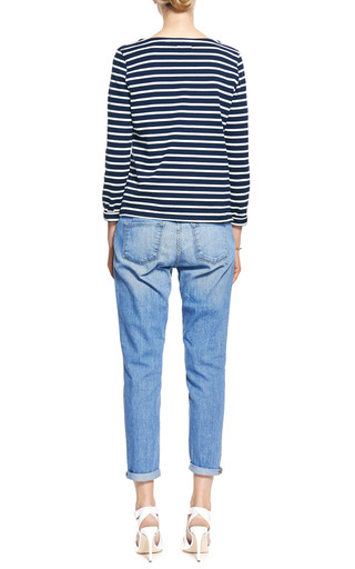 Sailor Stripe Cotton Sweater by PETIT BATEAU Now Available on Moda Operandi