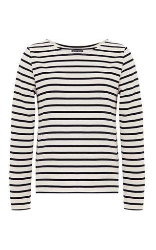 Medium petit bateau white sailor stripe cotton sweater