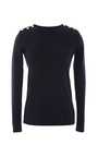 Button Detail Cotton Sweater by PETIT BATEAU Now Available on Moda Operandi
