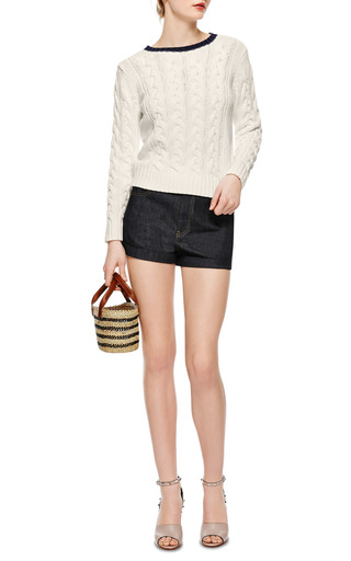 Fidelite Cable Knit Sweater by PETIT BATEAU Now Available on Moda Operandi