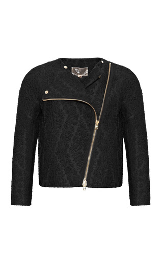 Medium giambattista valli black jacquard long sleeve jacket 2