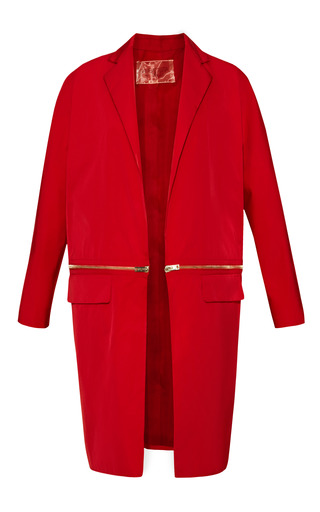 Medium giambattista valli red nylon long sleeve coat