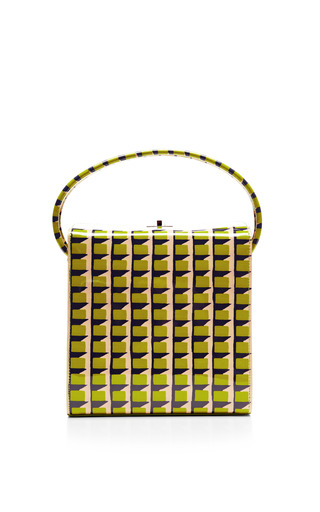 Printed Patent Leather Handbag by CARVEN Now Available on Moda Operandi