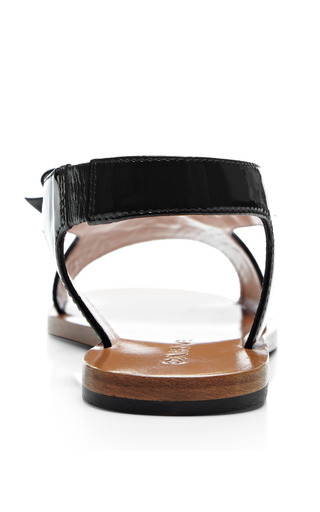 Patent Leather Sandals by CARVEN Now Available on Moda Operandi