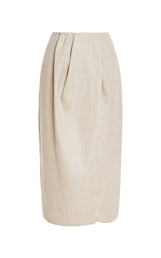 Draped Linen Skirt by CARVEN Now Available on Moda Operandi