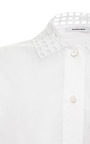 Broderie Anglaise Cotton Poplin Shirt by CARVEN Now Available on Moda Operandi