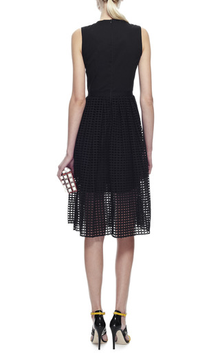 Broderie Anglaise Cotton Dress by CARVEN Now Available on Moda Operandi