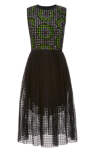 Medium carven black broderie anglaise cotton dress