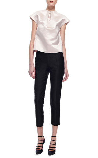 Slim Fit Cotton Gazar Cropped Pants by CARVEN Now Available on Moda Operandi