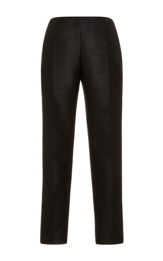 Medium carven black slim fit cotton gazar cropped pants