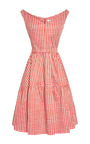 Printed V Neck A Line Dress by CARVEN Now Available on Moda Operandi