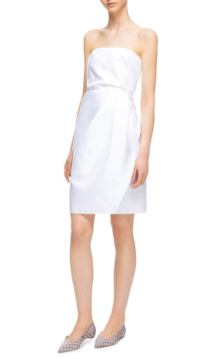 Heavy Faille Dress by CARVEN Now Available on Moda Operandi