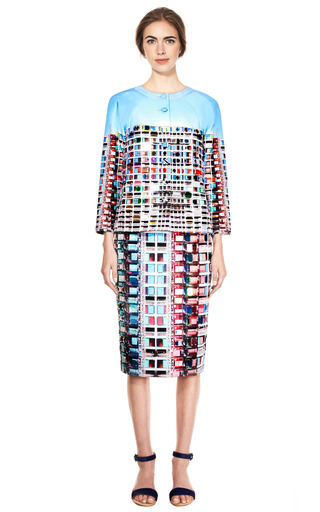 Erno Mini Embellished Blush Jacket by MARY KATRANTZOU for Preorder on Moda Operandi