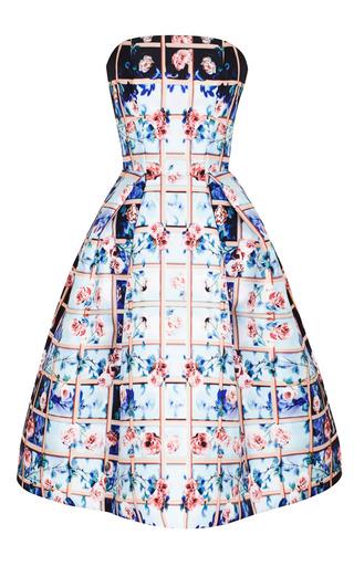 Medium mary katrantzou blue folli rose blue nevis dress