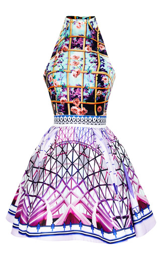 Medium mary katrantzou pink folli rose runner trinkolo dress