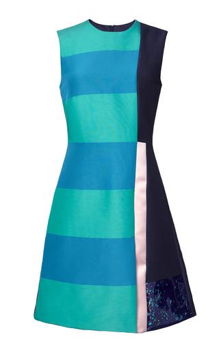 Medium roksanda ilincic navy dupioni bronti dress