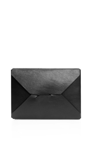 Medium j w anderson black black bento box clutch