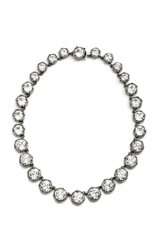 Rhinestone Runway Necklace by ROCHAS Now Available on Moda Operandi