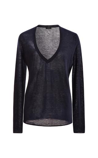 Medium joseph blue cashmere v neck sweater
