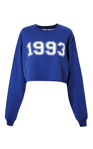 Medium msgm white collegiate logo sweater