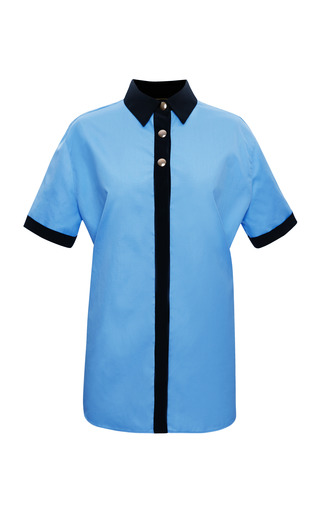 Medium fausto puglisi black short sleeve mens shirt