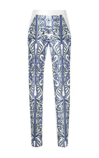 Medium bibhu mohapatra ivory baroque print skinny pants in purple