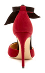 Ladylike Two Tone Suede Pumps by ALEXANDRE BIRMAN Now Available on Moda Operandi