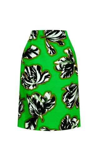 Medium jonathan saunders green sylvia green tulips skirt