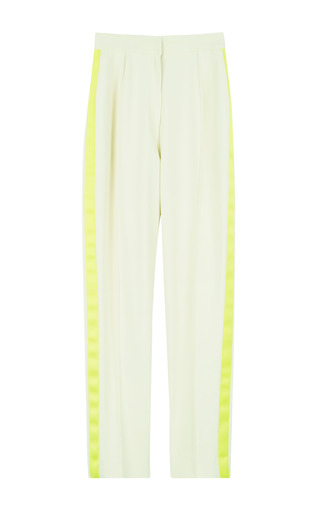 Medium jonathan saunders yellow ornella paneled trousers