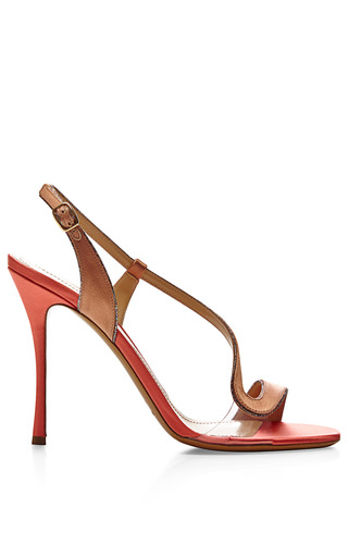 Medium nicholas kirkwood brown satin and pvc sandals