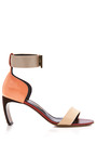 Suede Patent And Metallic Leather Sandals by NICHOLAS KIRKWOOD Now Available on Moda Operandi