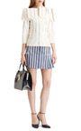 Mrs. Thom Junior Striped Leather Tote by THOM BROWNE Now Available on Moda Operandi