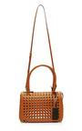Mini Laser Cut Leather Handbag by MARNI Now Available on Moda Operandi