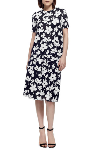 Floral Print Gauze Top by MARNI Now Available on Moda Operandi