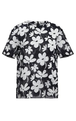 Medium marni white floral print gauze top