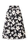 Floral Print Flared Gauze Skirt by MARNI Now Available on Moda Operandi