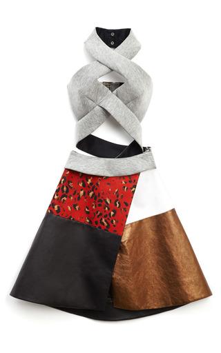 Medium josh goot bronze corset wrap halter neck dress