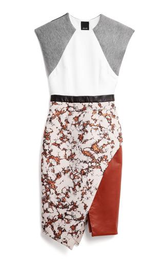 Medium josh goot multi clever jacquard sleeveless wrap dress