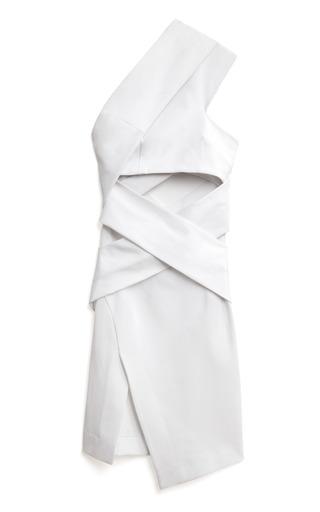 Medium josh goot white bandage wrap one shoulder dress