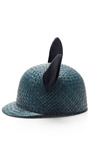 Straw And Cotton Bowler Hat by FEDERICA MORETTI Now Available on Moda Operandi