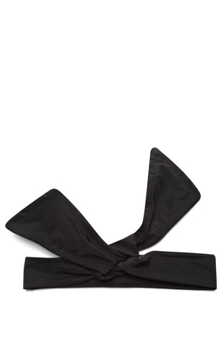 Medium federica moretti black bow style headband