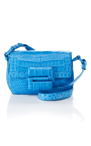Medium nancy gonzalez blue small crossbody flap handbag