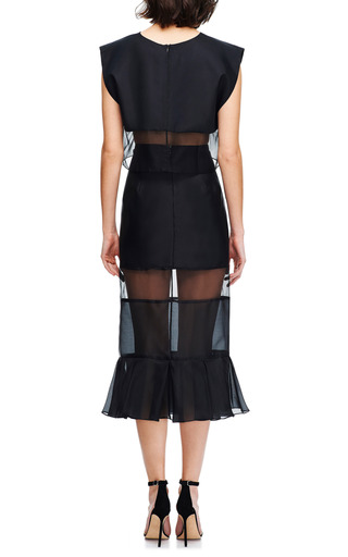 Paneled Silk Organza Midi Skirt by KARLA ŠPETIC Now Available on Moda Operandi