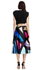 I Ines Printed Satin A Line Skirt by KARLA ŠPETIC Now Available on Moda Operandi